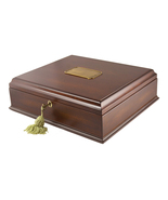 Large Antico Wood Memory Box Organizer in Mahog... - $105.00