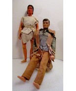 Lone Ranger and Tonto 1973 Gabriel 10 inch Figures - $24.99