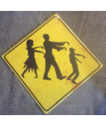 Caution Zombies Ahead Cardboard Warning Yellow ... - $3.99