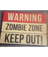 Eat Drink Be Scary/ Zombie Zone Cardboard Hallo... - $3.99