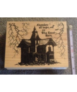 Wood-mounted Haunted House Abandon Hope Craft H... - $9.99