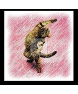 Yoga CAT 5 Re-Mastered Digital Art - $10.00