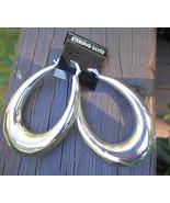 New Large Hoop Earrings with French Locks - Ste... - $18.00