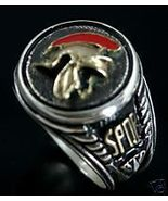 Roman Legionaire Men's Signet ring,Sterling Silver - $89.00