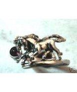 Galloping Arabians Gemstone ring,,,, Sterling S... - $29.00