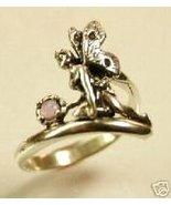 Kneeling Fairy Amythist gemstone ring Sterling ... - $37.00