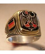 German Eagle,Flag Men's signet ring...sterling ... - $79.00