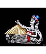 10 Karat Gold Nefertiti Crown silver rope ring - $249.00