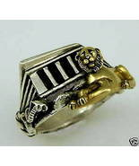 Abydos Temple Egyptian Lion ring 10 Karat gold ... - $259.00