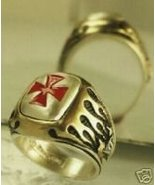 Knight's Templar Crusader ring...Sterling Silve... - $89.00