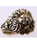 10 Karat gold LionHead Mens  Diamond ring - $2,979.00