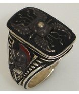 Praetorian Guard Shield ring Sterling Silver Lge - $136.00