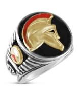 SPARTAN Helmet Mens Signet ring Sterling Silver... - $95.00
