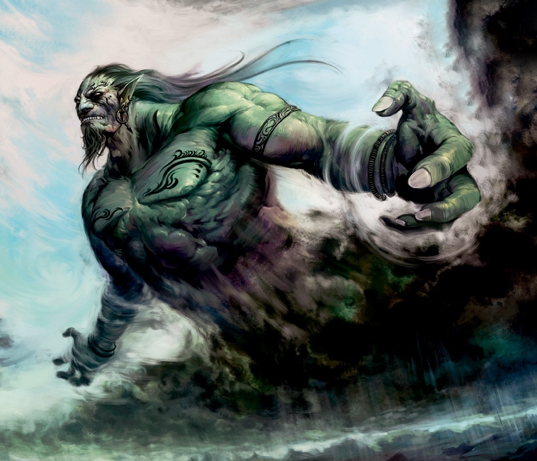 Male Marid Djinn Spirit Powerful Wish Granting Genie Rare