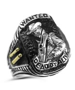 ~ ~ Bounty Hunter Ring WANTED DEAD or ALIVE,Ste... - $99.00