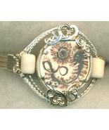 English Porcelain Silver Wire Wrap Bracelet 10 - $37.97