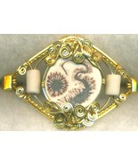 English Porcelain Gold Wire Wrap Bracelet 13 - $37.98