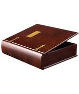 Large Wood Memory Box Photo Organizer in Mahoga... - $105.00