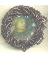 Victorian Style Beaded Brooch 3 - $9.83