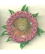 Victorian Style Beaded Brooch 1 - $9.83