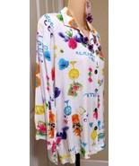 Tropical button down long Ladies top Paradiso p... - $12.86