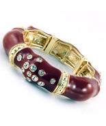 Enamel Crystal studded Stretch Bracelet 4 color... - $11.99