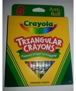 8 CRAYOLA TRIANGULAR Crayons Anti-roll  Brand N... - $4.94