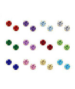 14K Gold Stud Screw Back Birthstone Earrings fo... - $13.71 - $34.29