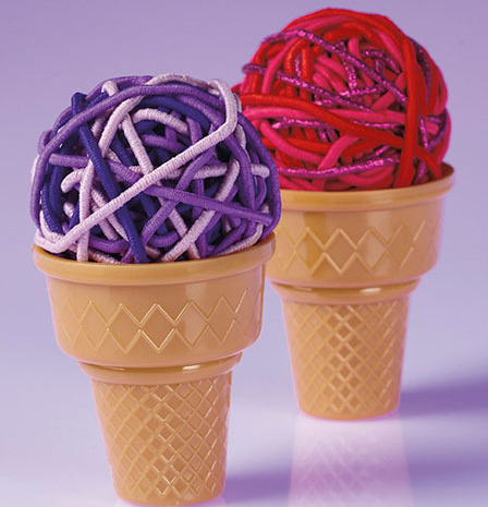 Ice Cream Cone Hair Elastics One Cone