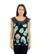 S ANTHROPOLOGIE Ric Rac Black Sleeveless Floral... - $27.72