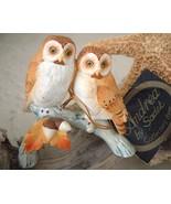 Vintage Barn Owls Acorns Andrea by Sadek Porcel... - $24.95