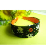 Wide Handmade Ghosts Pumpkins Headband - $12.99
