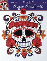 Sugar Skull #2 L312 halloween cross stitch char... - $7.20