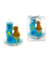 Baby Blocks with Teddy Bear Candle - Blue - $109.76
