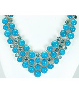 Natural Mexican Turquoise with Blue Topaz Sterl... - $375.36