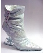 Frost Bite Boot Metallic Icy Blue Lavender Ston... - $99.99