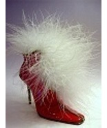 Mrs. Claus' Snowflake Surprise Shiny Red Boot O... - $79.99