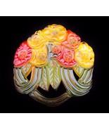 Vintage Reverse Painted Carved Apple Juice BAKE... - $166.25