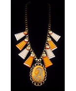 AMAZING Art Deco EGYPTIAN REVIVAL Step Glass Ca... - $850.25