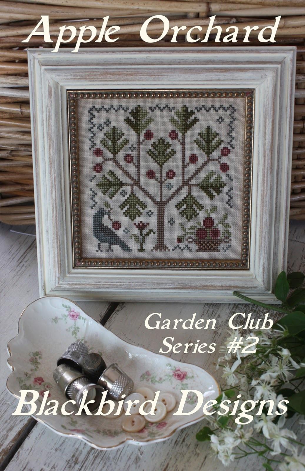 Apple orchard 2 garden club series cross stitch chart for Garden club book by blackbird designs