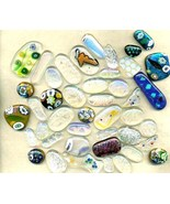 Dichroic Fused Glass Cab Lot - $16.99
