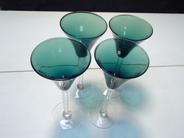 4 Gorgeous Green Cordials~~ - $24.95