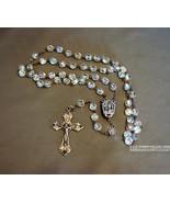 Vintage Crystal Rosary Aurora Borealis Crystal ... - $21.99
