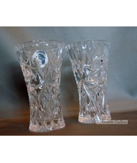 Set of Two Lenox Crystal Small Vases Czech Repu... - $19.99