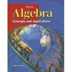Algebra Homeschool textbook bundle Glencoe 2001 9th grade homeschooling text