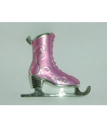 Ice Skate Ornament Pink and Silver  - $5.00