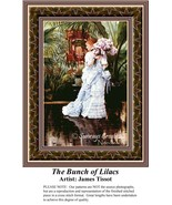 The Bunch of Lilacs, Fine Art Counted Cross Sti... - $42.00