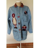 Raggedy Ann and Andy Blue Jean Jacket Womens Co... - $45.97