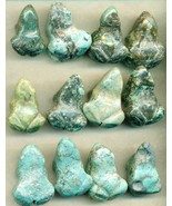 Chinese Turquoise Frog Carvings Lot 1 - $15.97
