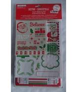 Retro Christmas Card Making Kit NIP 8 Cards Sta... - $11.99